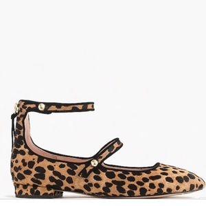 J. Crew Poppy Calf Hair Leopard Ballet Flat